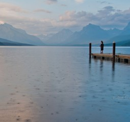 Summer Rain at Lake McDonald