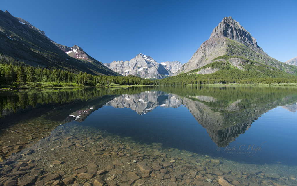 Mountain Reflections in Swiftcurrent Lake